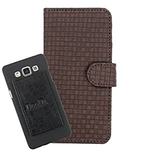 DooDa PU Leather Wallet Flip Case Cover With Card & ID Slots For Microsoft Lumia 640 LTE - Back Cover Not Included Peel And Paste