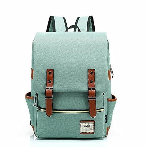 CrazySell Unisex Canvas Backpack Laptop Bag Computer Bag Rucksack Daypack College Bag School Bag Sports Bag Duffel Bag Travel Bag Hiking Bag Camping Bag Weekend Bag Fits Most 15 inch Laptop