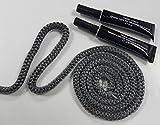 Dichtschnur schwarz 3m lang Ø12mm inkl. 2 Tuben Kleber á. 20ml