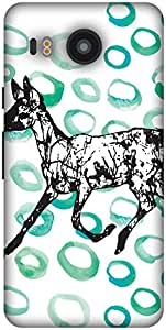 The Racoon Lean Running in Circles hard plastic printed back case / cover for LG Nexus 5X