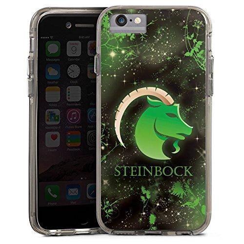 Apple iPhone 6 Bumper Hülle Bumper Case Glitzer Hülle Sternzeichen Steinbock Astrologie Bumper Case transparent grau
