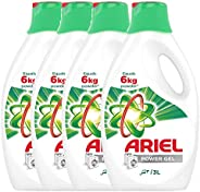 Ariel Power Gel Washing Detergent - Pack of 4 Bottles (4 x 3L)