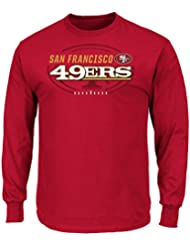 "San Francisco 49ers Majestic NFL ""Of Great Value"" Men's Long Sleeve T-Shirt Chemise"