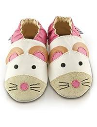 Snuggle Feet - Chaussons Bébé en Cuir Doux - 0-6 Mois, 6-12 Mois, 12-18 Mois, 18-24 Mois, 2-3 Ans