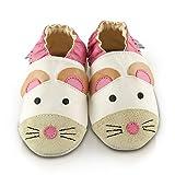 Snuggle Feet - Suaves Zapatos De Cuero Del Bebé ratón (24-36 meses)