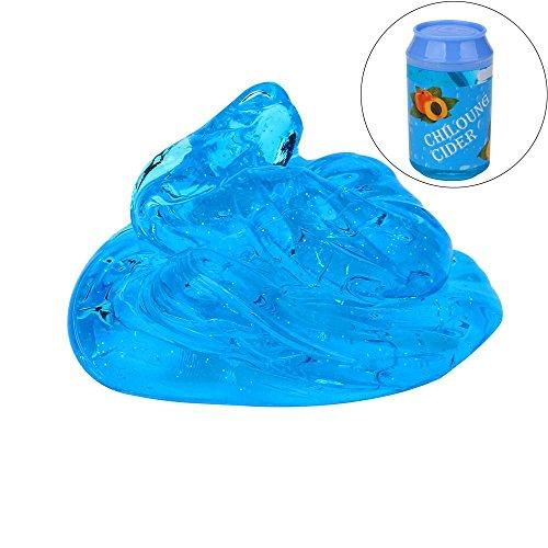 Mini-Dosen Blitz Pulver Schlamm Spielzeuge HARRYSTORE Klare Schleim Duftender Stress Relief Spielzeug (Blau) (Cube Recyceln)