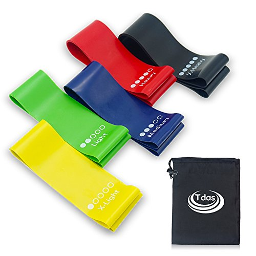 Resistance Band set, Stretch Bands, Exercise Band, Loop Band for Exercise, Legs, Gym, Workout, Pull ups, Stretching, - Light, Medium, Heavy, Resistance Loop Bands For Fitness, Butt, shoulder, Glutes, Yoga, Physical Therapy, Home exercise Training for Women, Men