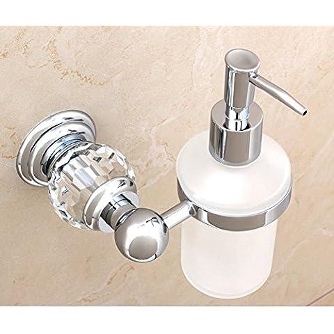 dispenser di sapone di cristallo in ottone dorato/lavello della cucina bottiglia dispenser di sapone a parete/Bagno disinfettante per le mani bottiglia/ciondolo in metallo in stile europeo-A