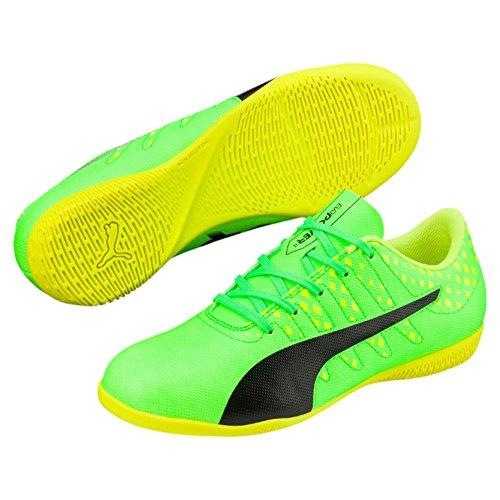 Puma Unisex-Kinder EvoPower Vigor 4 IT Jr Fußballschuhe, Grün (Green Gecko Black-Safety Yellow 01), 38 EU