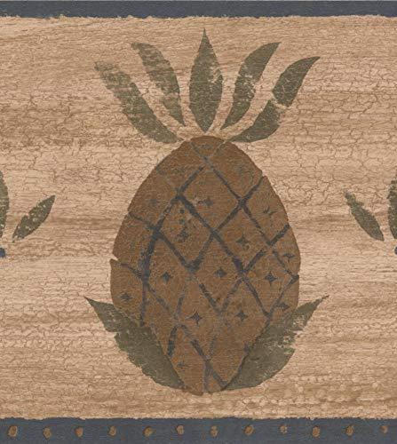 Chesapeake Braun Ananas dunkel Beige Tapete Grenze Retro-Design, Roll-15' x 6,5 '' - Ananas Grenze