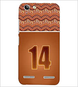 PrintDhaba Numerology Number 14 D-3647 Back Case Cover for LENOVO VIBE K5 (Multi-Coloured)