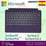 Microsoft Surface RT/Pro (2012)/2/Pro 2tipo di tastiera QWERTY spagnola con tasti retroilluminati–Viola–OEM boxed (senza confezione)