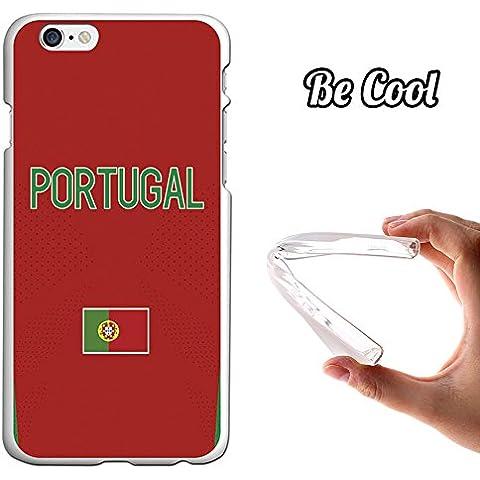 BeCool® - Custodia Gel Flessibile iPhone 6S & iPhone 6 Cuore Custodia silicone TPU morbida M1021 Nazionale di calcio Portogallo