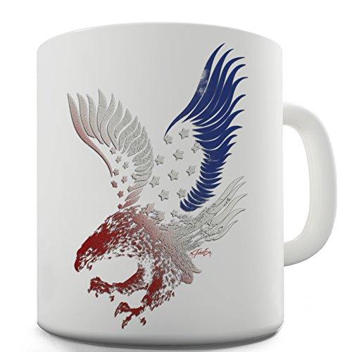 Twisted Envy Bandiera Americana Aquila divertente tazza in ceramica - Novità American Flag