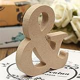 Everyday frei stehende Holzbuchstaben (A bis Z), zum Aufhängen für die Hochzeit oder als Partydekoration, holz, B, and