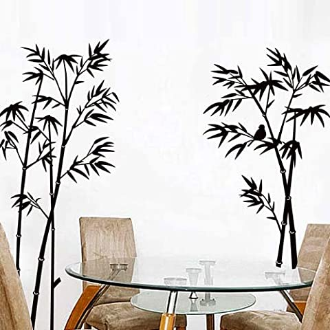 Bricolaje Autoadhesivo Moda Pvc Pared Removible Vinilo Decorativo / Casa Interior Imágenes - Bambú, Tamaño: 90Cm X