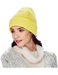 3da843571682c6 Kenmont Acrylic & Wool Beanie Cap Cuff Cable Knit Hat Fold Watch Winter Hats  for Men