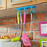 INOVERA (LABEL) Plastic Kitchen Ceiling Wall Cabinet Hanging Storage Rack Organiser, Assorted Colour(21x5.5x1.5cm)