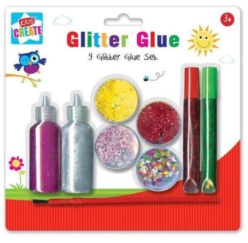 Kunst und Handwerk Glitter Glue Set, Kunststoff, farblich sortiert, 9-tlg. von Kids - Halloween-baby-kunst-projekte