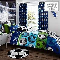 Catherine Lansfield Football Easy Care Duvet Set Blue