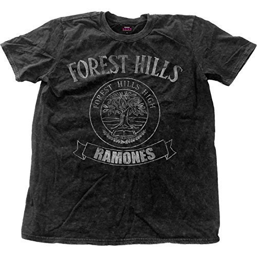 Ramones T Shirt Forest Hills Logo nuevo Oficial de los hombres negro distressed