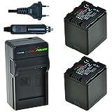 ChiliPower VW-VBN260 Kit: 2x Akku + Ladegerät für Panasonic HC-X800, HC-X900, HC-X900M, HC-X909, HC-X910, HC-X920, HC-X920M, HDC-HS900, HDC-SD800, HDC-SD900, HDC-SD909, HDC-TM900