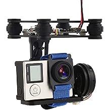 XCSOURCE® 2 Achsen Brushless Kardan Kamera halterung mit Controller Motor RTF für GoPro 3/3 + / 4 DJI Phantom 1/2 Luftaufnahme (Schwarz) RC441