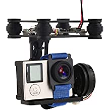 XCSOURCE® 2-Axis Brushless Gimbal Montaje de cámara con controlador Motor RTF para GoPro 3/3 + / 4 DJI Phantom 1/2 Fotografía aérea (Negro) RC441