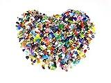 Pietre di cristallo di rocca, cristallo di rocca pietre decorative per acquari/terrari/Garden/vaso/vetro/vasi decorazione, MUZIZS1, Colorful (1 LB)