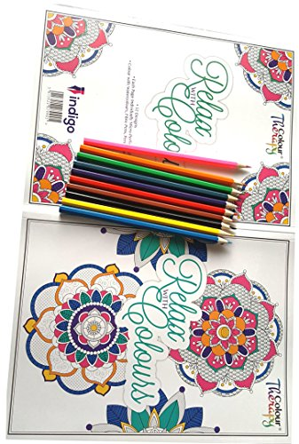 10 FREE COLORING Pencils With 64 Page Adult Colouring Book Anti Stress Art Therapy Positive Zen