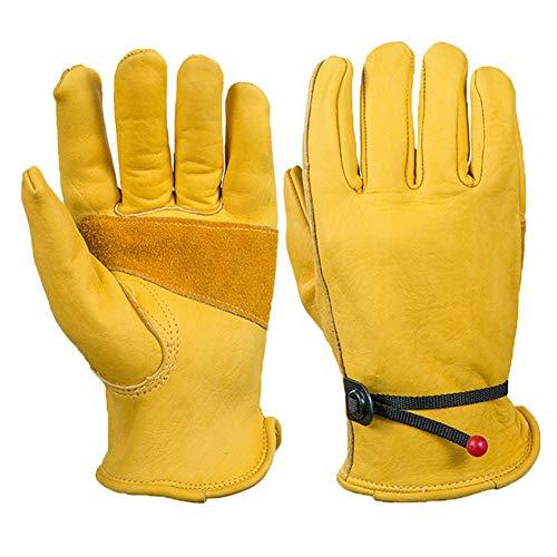 Lederhandschuhe, Hochwertige Leder-Gartenarbeit & Heimwerker Fischerei Restaurierungshandschuhe für Männer & Frauen