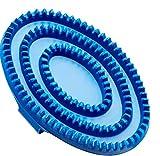 Cottage Craft Rubber - Almohaza/Rasqueta para el cuidado del caballo, color azul, talla Large
