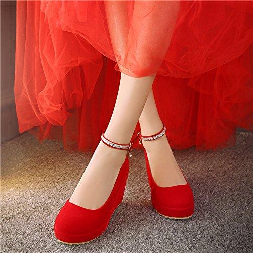 Col Matrimonio Impermeabili Scarpe Scarpe Scarpe Primavera Sposa Matrimonio Le Tacco Scarpe 8Cm Alto Vestito Scarpe Matrimonio Le Pendenza Rosse Con gules KPHY In Le qtxSvH5Hw