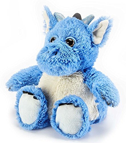 Warmies Cozy Plush Plüschtier zum Aufwärmen in der Mikrowelle, Blauer Drachen-Wärmekissen Kuscheltier