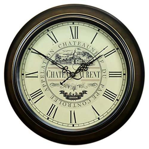 Bonne action Horloge murale Horloge Murale Rétro De Style Européen Salon Horloge Murale Quiet Jane Européenne Horloge Murale Antique Horloge Nordic Nostalgique ( Couleur : 14 inches/35.5cm )