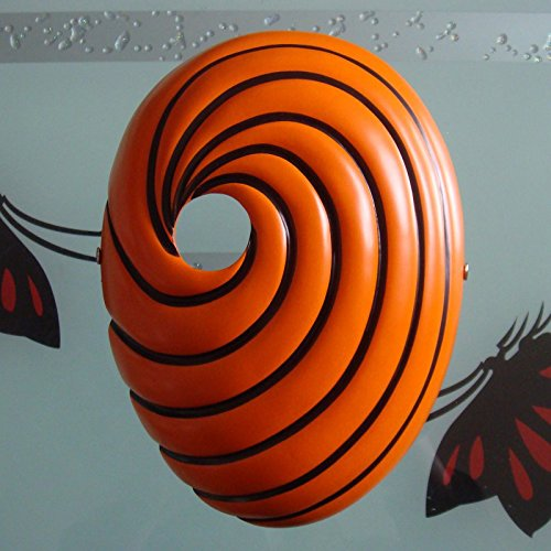 HITSAN INCORPORATION Resin Scary Mask Naruto Obito Japan Anime Masquerade Masks Prop One Eye Cosplay Halloween Party Mask