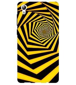 Chiraiyaa Designer Printed Premium Back Cover Case for Vivo Y51 (pattern 3d yellow stripes) (Multicolor)