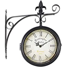 6dfb31e5c9a6 RD Reloj de Pared Paddington Station London 1854 Estaciòn Forja Negro