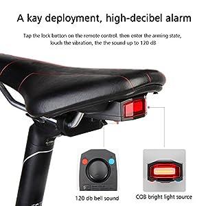 antusi Intelligente Diebstahlsicherung Bike (Fahrrad Rücklicht Alarm LED cyclingwith ACHTUNG Elektrische Bell USB Cable Mountain Zubehör from Lococo Ltd.