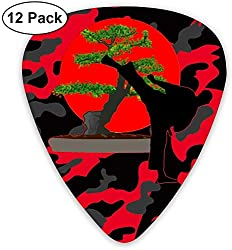 Japanische Karate Bonsai 351 Shape Classic Picks 12er Pack für E-Gitarre Acoustic Mandoline Bass