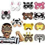 DAYAN 12 pcs Máscaras de animales salvajes de los niños Foam Wild Animal Masks Cosplay Halloween Accesorios