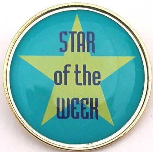 Stella della settimana Spilla con spedizione gratuita: Confezione da 5 - Spilla Stella Pin