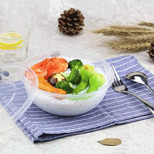 GYY Chinesische Einweg-Plastikdose 1050ml - runde Dicke Zwischenmahlzeit-Reis-Lebensmittelverpackung [150 Pack] (Color : A) -