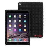 Snugg - Housse Noir pour iPad Air 2 - Housse légère de haute qualité à motifs carrés en relief - Matériau antidérapant, ultra-mince et hautement protecteur - Garantie à vie - Conçue par Snugg, les créateurs numéro 1 des étuis pour iPad 2 et iPad 3 en tête des ventes