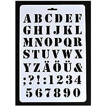 Plantilla con letras del abecedario, plástico, Blanco, ...