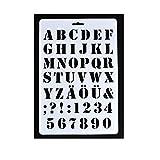 Plantilla con letras del abecedario, plástico, Blanco, #4