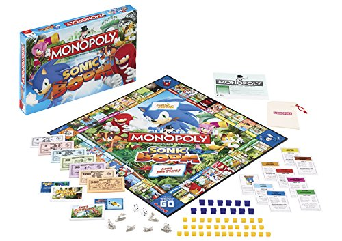 Image of Winning Moves Sonic Boom Monopoly Board Game