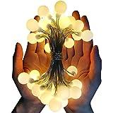 Dailyart 13 piedi / 4m lungo Globe bianco caldo luce della stringa chiara stellata per Giardini, Case, Matrimonio, festa di Natale, alimentata a batteria, bianco caldo