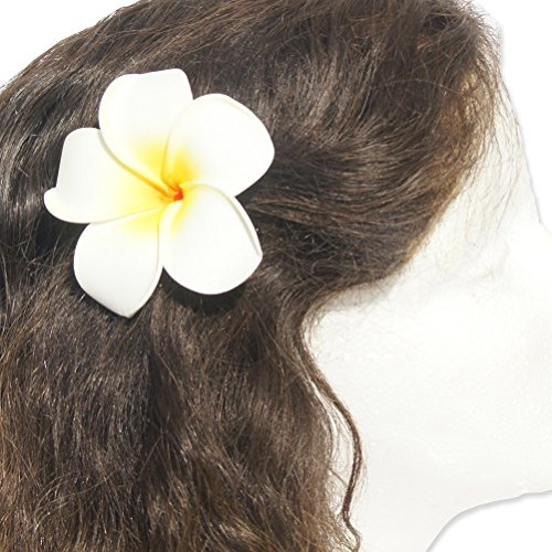 Pixnor 3,5 pouces Life-Like mousse blanc fleur cheveux Barrette 3.5 \