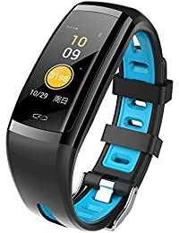 Reloj Inteligente Mujer Hombre Deporte, Harpily Smart Watch Sports Fitness Activity Heart Rate Tracker Reloj de Presión Arterial Deportivo (Azul)